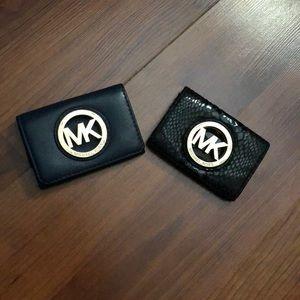 Michael Kors card holders. Black & Navy